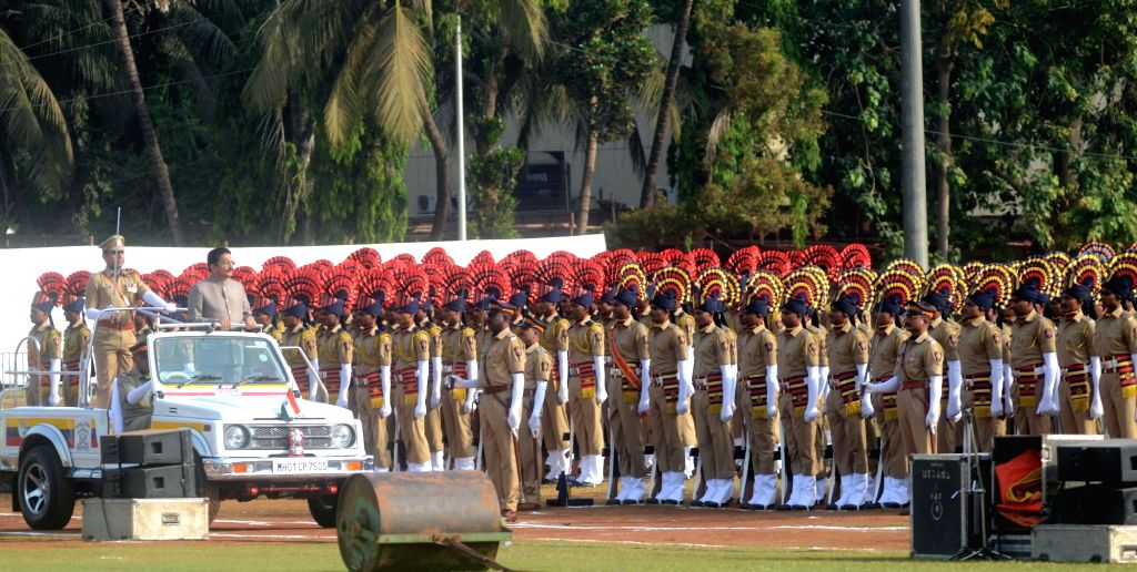 Maharashtra Governor C.H. Vidyasagar Rao inspects the Guard of Honour during Maharashtra Foundation day at Shivaji Park, in Mumbai's Dadar, on May 1, 2019. - H. Vidyasagar Rao