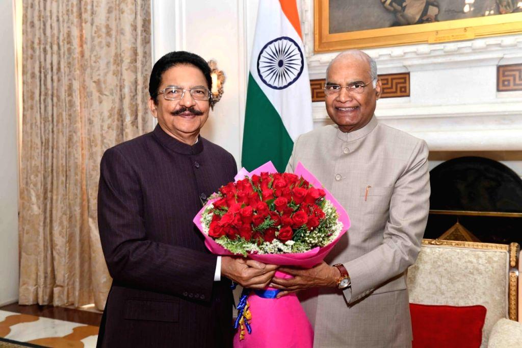 Maharashtra Governor C. Vidyasagar Rao calls on President Ram Nath Kovind at Rashtrapati Bhavan in New Delhi on May 31, 2019. - C. Vidyasagar Rao and Nath Kovind