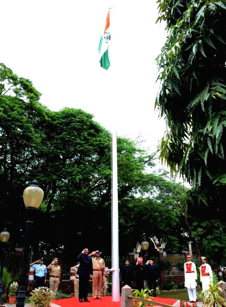 Maharashtra Governor Chennamaneni Vidyasagar Rao hoists the national flag on Independence Day in Pune on Aug 15, 2016. - Chennamaneni Vidyasagar Rao