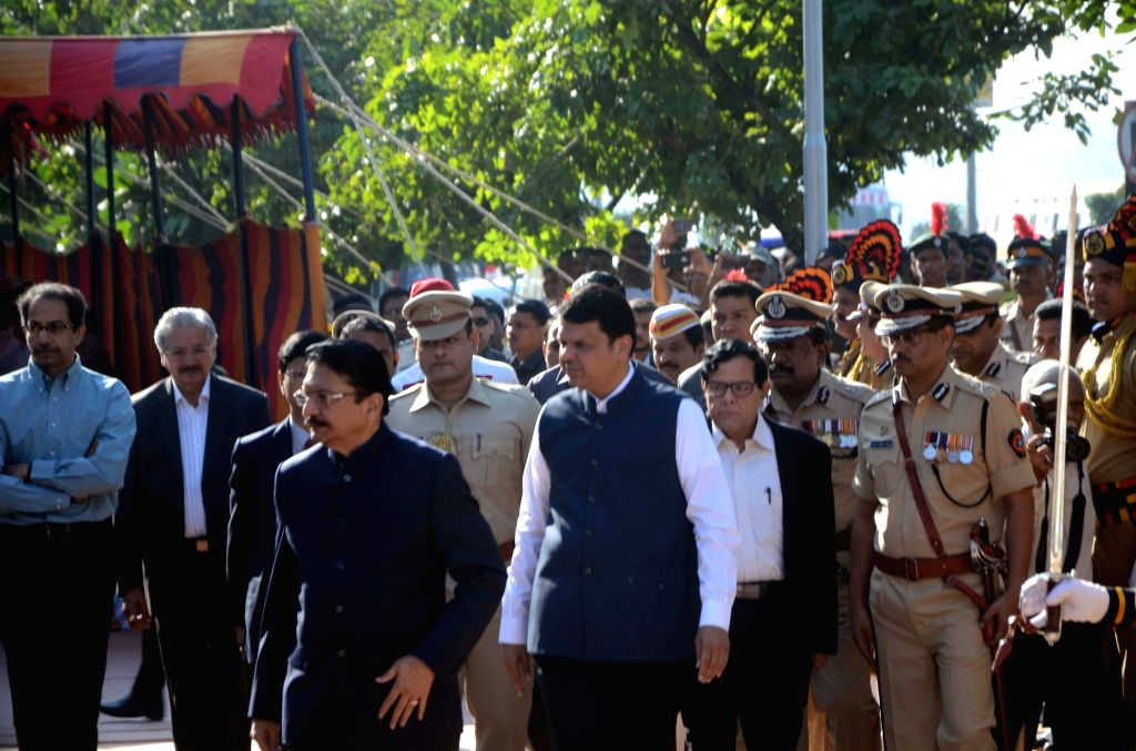 Maharashtra Governor CV Rao and Chief Minister Devendra Fadnavis during a programme organised on 8th anniversary of 26/11 Mumbai terror attacks at Police Gymkhana in Mumbai on Nov 26, 2016. - Devendra Fadnavis