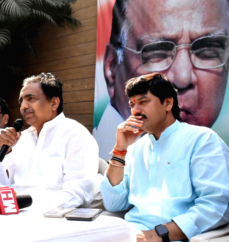 Maharashtra Nationalist Congress Party (NCP) President Jayant Patil addresses a press conference, in Mumbai, on March 14, 2019. - Jayant Patil