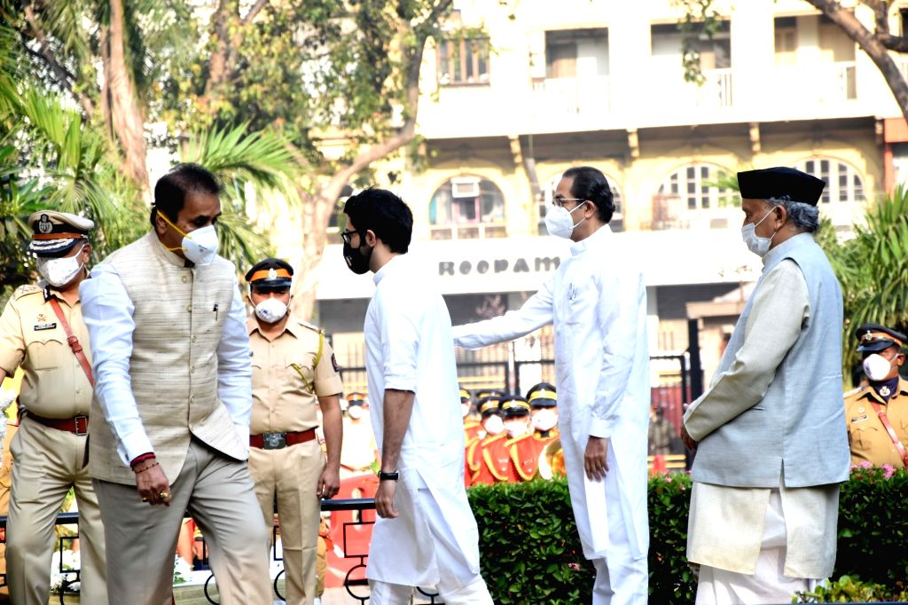 Maharashtra Tourism Minister Aditya Thackeray arrives to pay tributes to the martyrs and victims felled by bullets and brave-hearts who helped save and secure the city from the assault by 10 ... - Aditya Thackeray