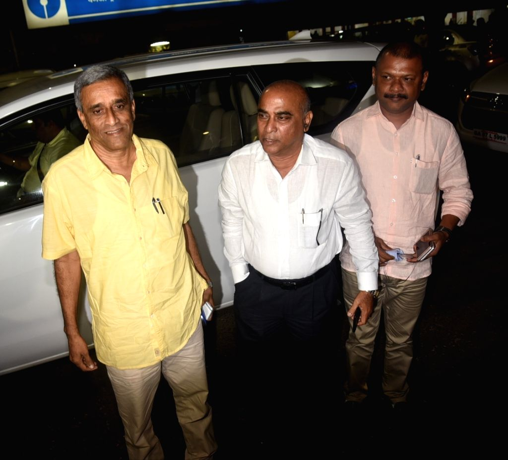 Maharashtrawadi Gomantak Party (MGP) leaders Ramkrishna Dhavalikar, Manohar Ajgaonkar and Deepak Pawaskar after meeting BJP central committee members; in Panaji on Sept 16, 2018. With Goa ... - Manohar Parrikar and Amit Shah