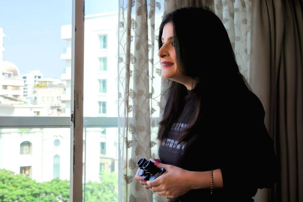 Maheep Kapoor likes to keep track of her neighbourhood. - Maheep Kapoor
