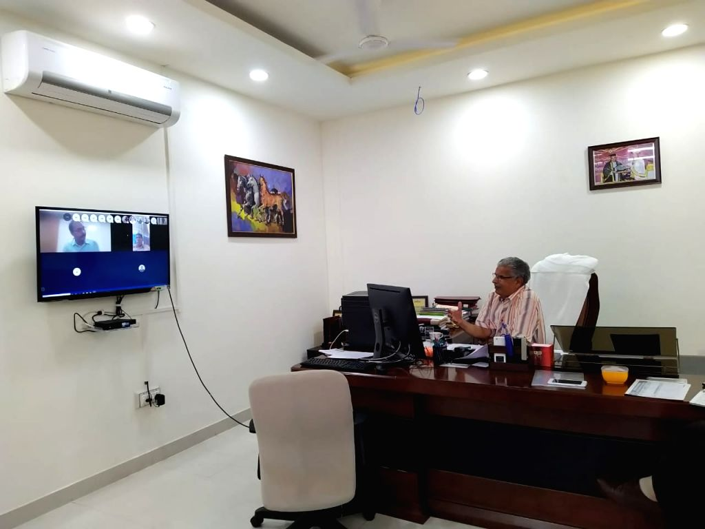 Mahendragarh Central University Vice Chancellor launches new educational platform via skype during lockdown.