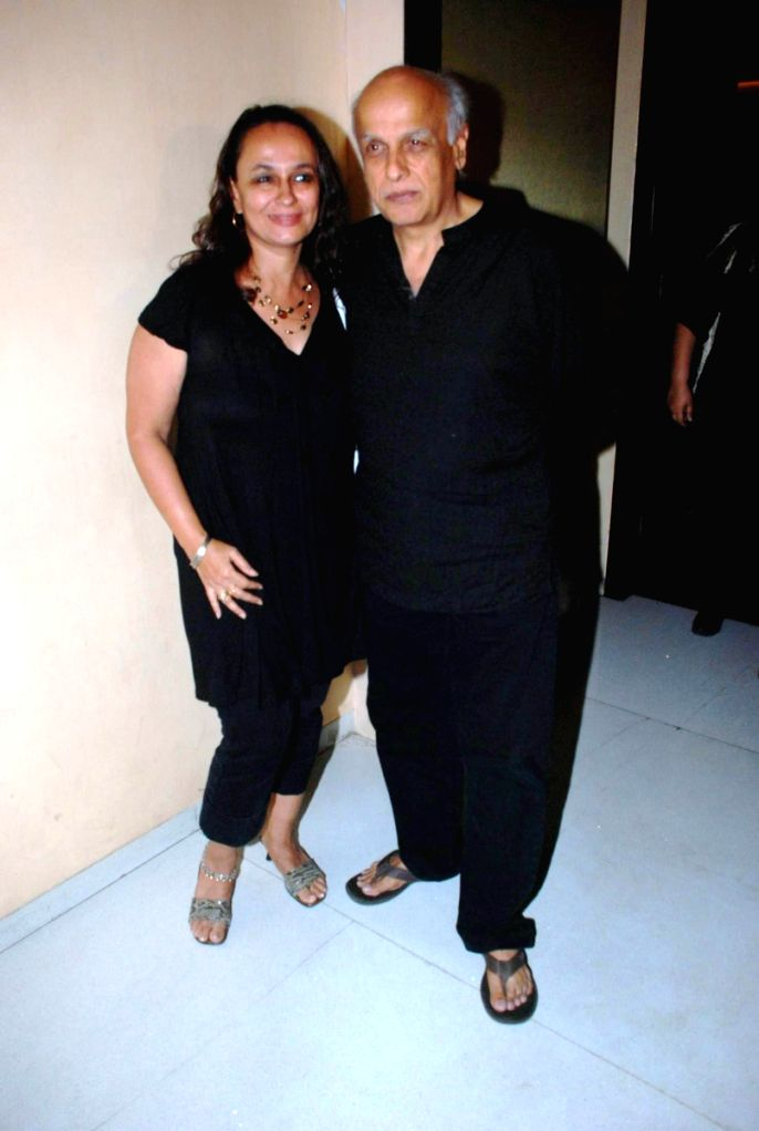 Mahesh Bhatt at Vinta Nanda's party, in Mumbai.