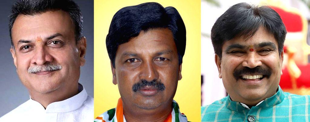Mahesh Kumathalli, Ramesh Jarkiholi and R Shankar. (File Photo: IANS)