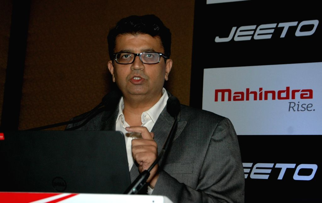 Mahindra and Mahindra Limited General Manager (marketing), Automotive Division, Mahesh Kulkarni addresses during the launch of Mahindra`s commercial vehicle `Jeeto` in Kolkata on June 25, ... - Mahesh Kulkarni
