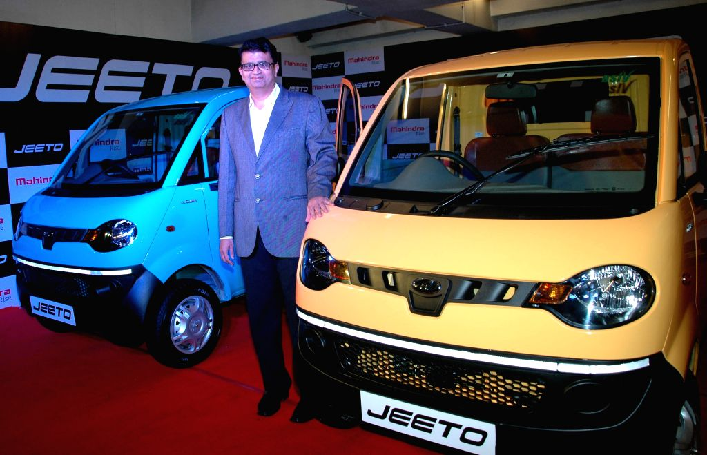 Mahindra and Mahindra Limited General Manager (marketing), Automotive Division, Mahesh Kulkarni during the launch of Mahindra`s commercial vehicle `Jeeto` in Kolkata on June 25, 2015. - Mahesh Kulkarni