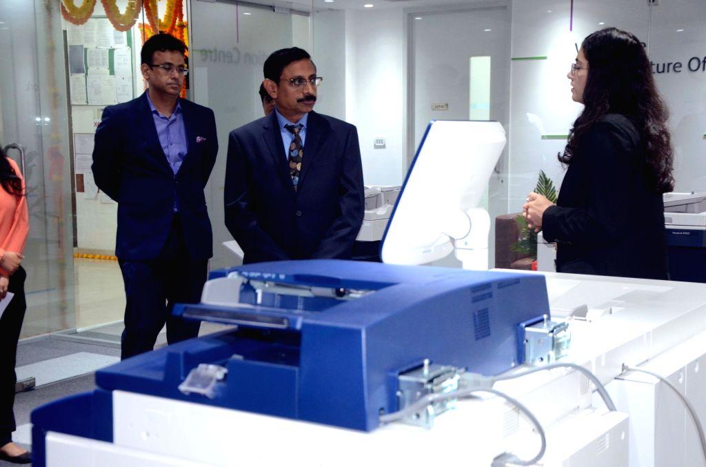 Mahindra & Mahindra Group CFO & Group CIO V.S. Parthasarathy during inauguration of Xerox Innovation Centre in Mumbai on Oct 31, 2018.