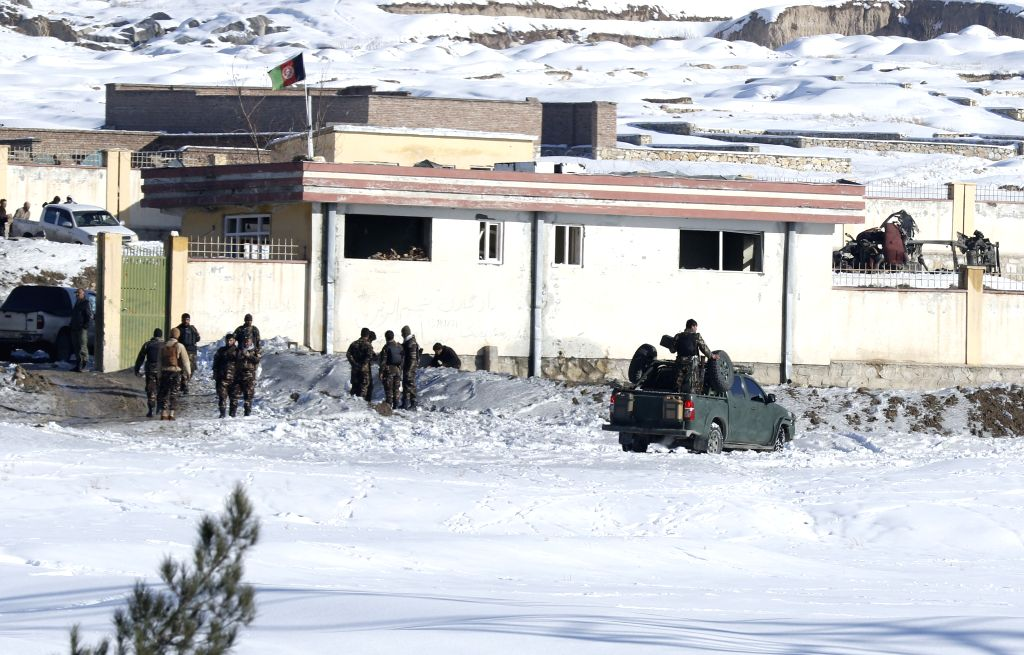 MAIDAN SHAR (AFGHANISTAN), Jan. 21, 2019 Afghan security force members inspect the site of a Taliban attack in Maidan Shar, capital of Wardak province, Afghanistan, Jan. 21, 2019. At ...