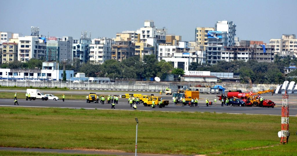Maintenance work commences at Mumbai airport on Oct 19, 2016.