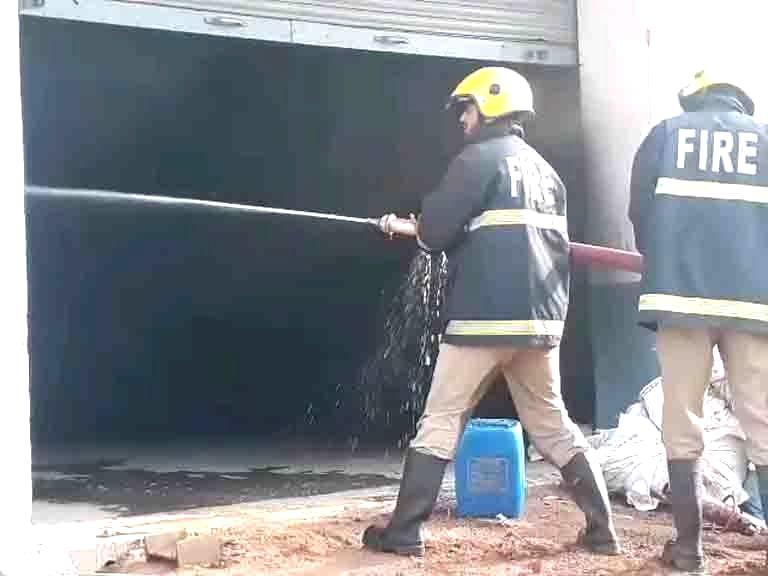 Major fire engulfs oil factory in Gujarat. (Photo: IANS)