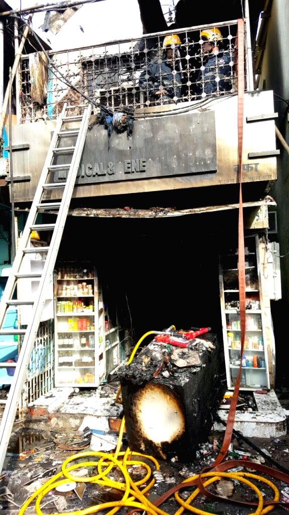 Major fire that engulfed a medical store in Mumbai