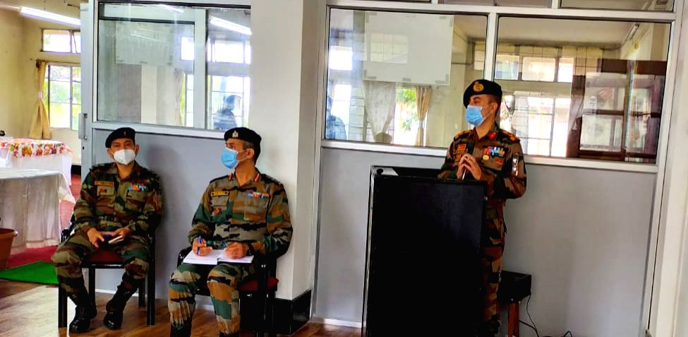 Major General Ananta Bhuyan, SM ADG NCC NER, visited Group HQ Shillong and all the four units in Meghalaya on August 28,2020.