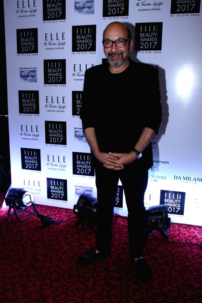 "Makeup Artist Mickey Contractor during the ""Elle India Beauty Awards 2017"" in Mumbai on Oct 4, 2017. - Mickey Contractor"