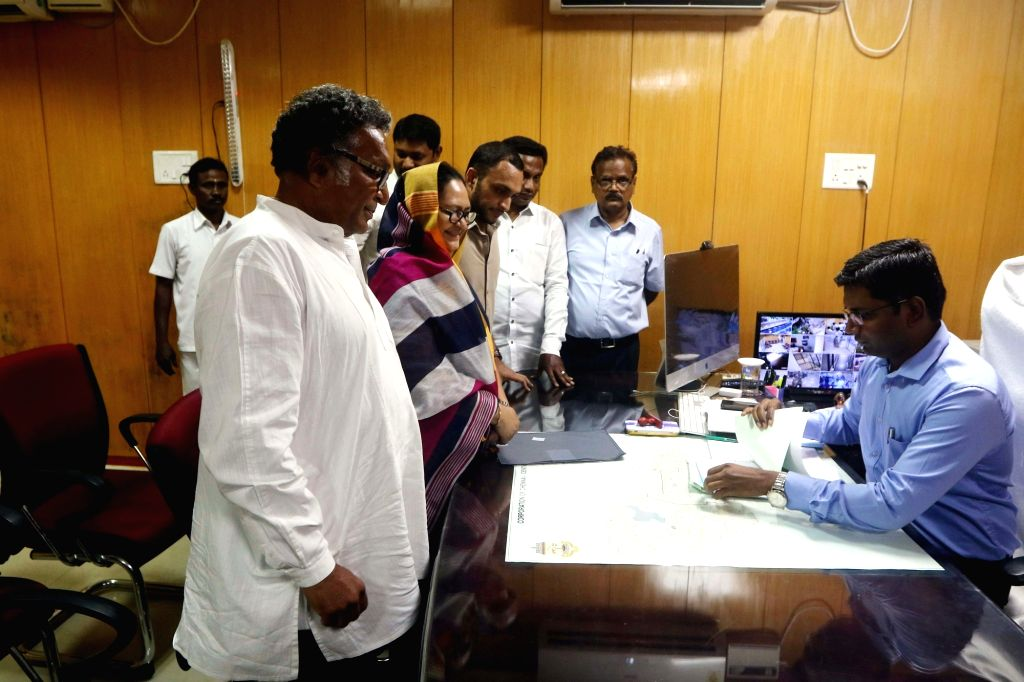 Makkal Needhi Maiam (MNM) candidate from Chennai Central, Kameela Nasser files her nomination for 2019 Lok Sabha elections in Chennai, on March 25, 2019.