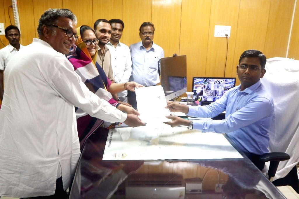 Makkal Needhi Maiam (MNM) candidate from Chennai Central, Kameela Nasser files her nomination for 2019 Lok Sabhaelections in Chennai, on March 25, 2019.