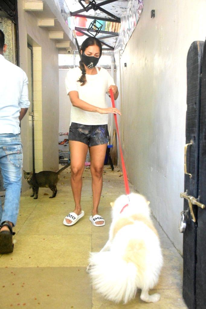 Malaika Arora spotted pet clinic in Bandra On Monday, 24 May, 2021. - Malaika Arora