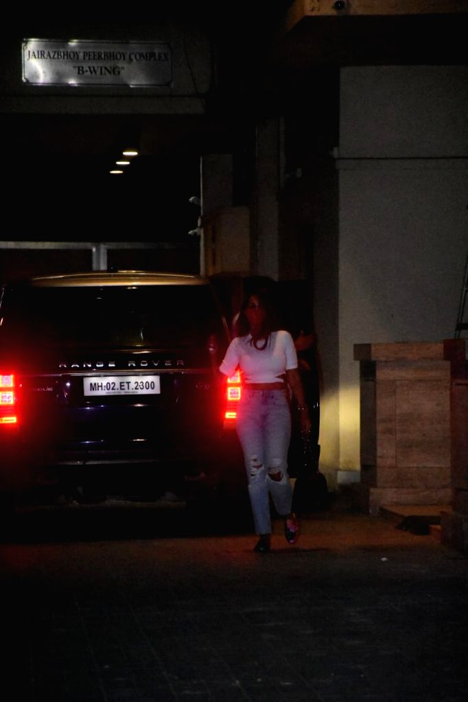Malaika Arora With Parents Spotted At Amrita Arora's House For Birthday Celebration Of Mother on Tuesday 02nd March 2021. - Amrita Arora