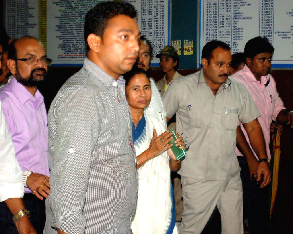 West Bengal Chief Minister Mamata Banerjee during her visit to Malda on June 15, 2015. - Mamata Banerjee