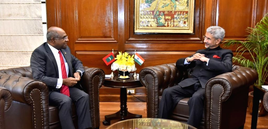 Maldives Foreign Minister Abdulla Shahid meets External Affairs Minister S. Jaishankar in New Delhi on Dec 13, 2019. - Abdulla Shahid