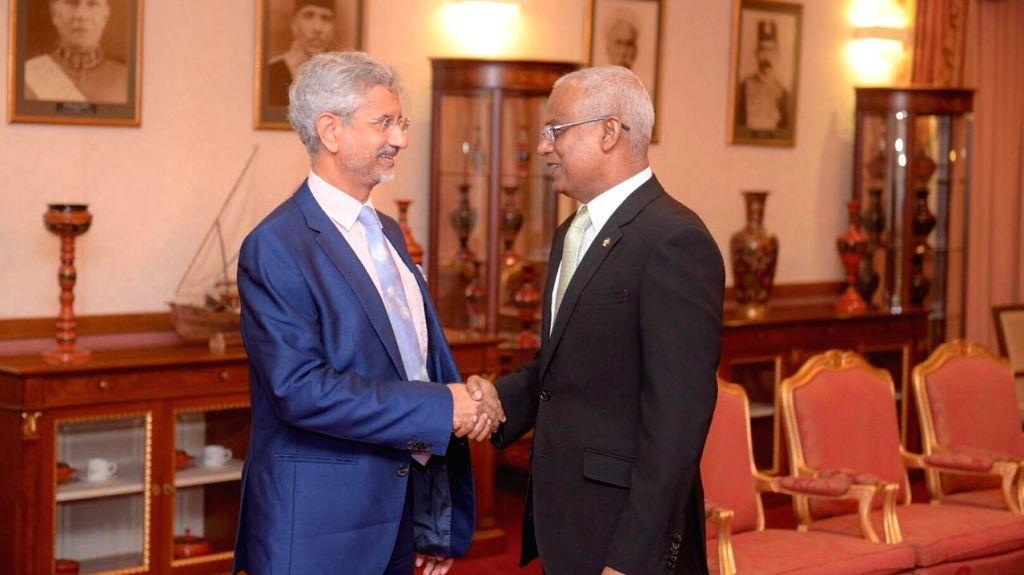 Male: External Affairs Minister S. Jaishankar meets Maldives President Ibrahim Mohamed Solih, in Male on Sep 4, 2019. (Photo: IANS/MEA) - S. Jaishankar