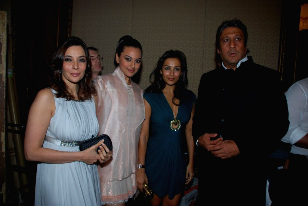 Mallaika and Jackie Shroff at SNDT College's at Chrysalis show.