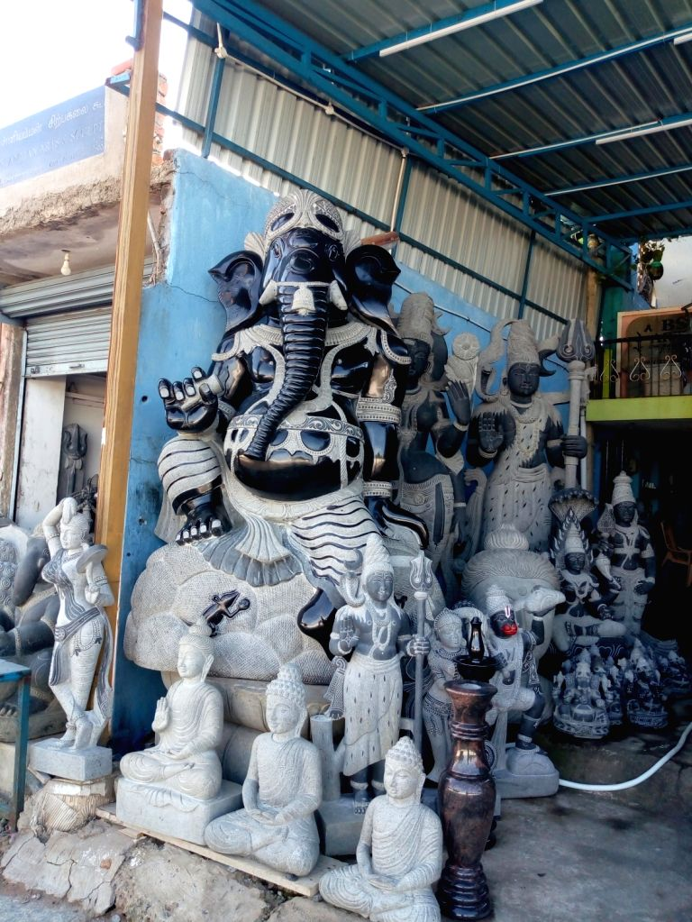 Mamallapuram (Tamil Nadu): At the world-famous sculpture town of Tamil Nadu's Mamallapuram, formerly Mahabalipuram, the sculpting business transcends the religious divide. Members of three major religions -- Hinduism, Christianity and Islam -- are in