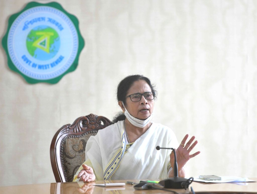 Mamata accuses centre of partial behaviour in assigning funds for disaster management .   24 May, 2021. (Photo: IANS)