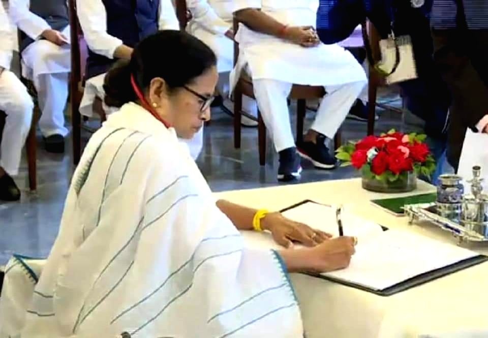 Mamata Banerjee takes oath as Bengal CM 3rd time - Mamata Banerjee