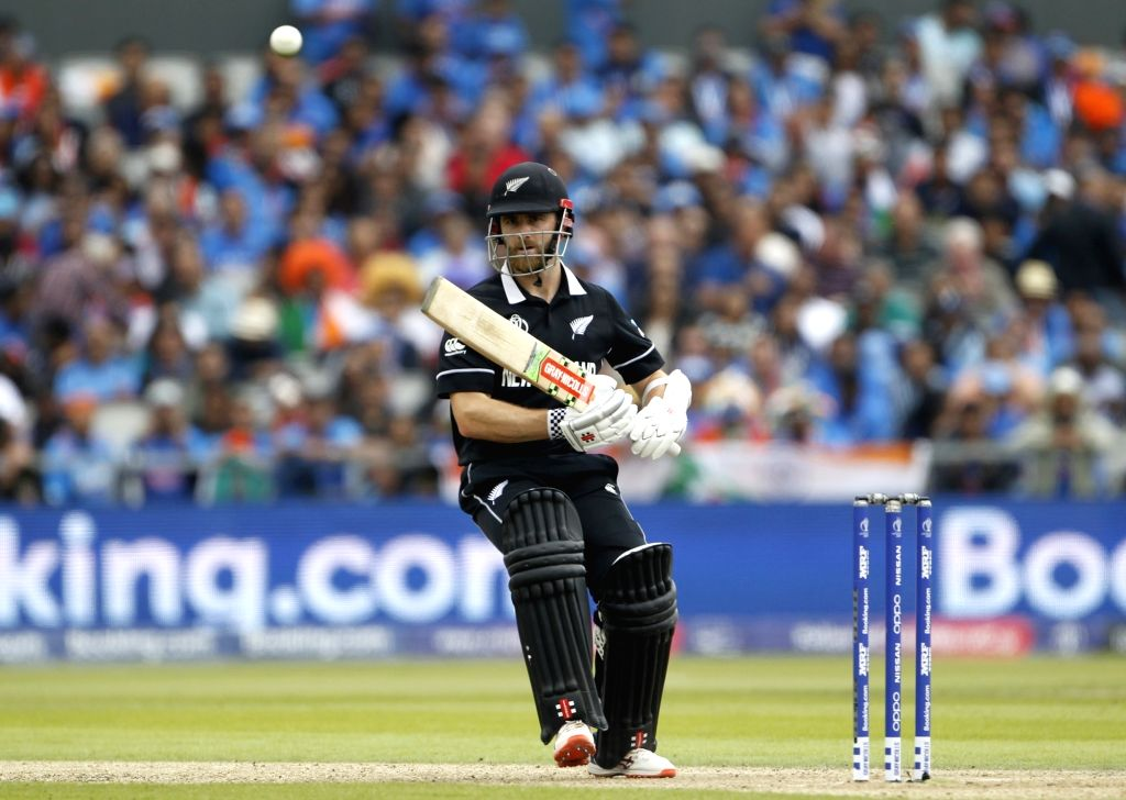 Manchester: New Zealand's skipper Kane Williamson in action during the 1st Semi-final match of 2019 World Cup between India and New Zealand at Old Trafford in Manchester, England on July 9, 2019. (Photo: Surjeet Kumar/IANS) - Surjeet Kumar
