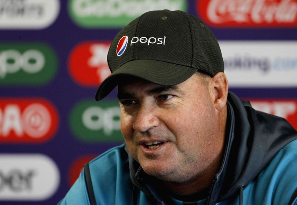 Manchester: Pakistan's head coach Mickey Arthur addresses a press conference ahead of the World Cup 2019 match against India in Manchester, England on June 15, 2019. (Photo: Surjeet Yadav/IANS) - Surjeet Yadav