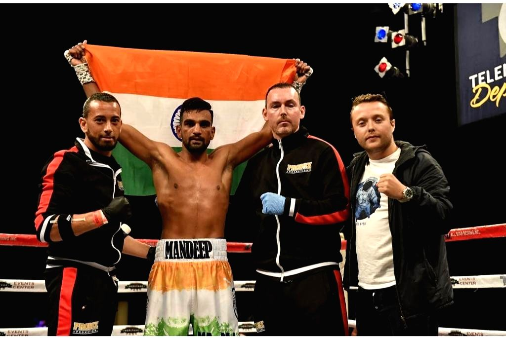 Mandeep Jangra, hailing from Haryana, won his first match in Pro-Boxing on Friday, 7th May 2021, in the USA.