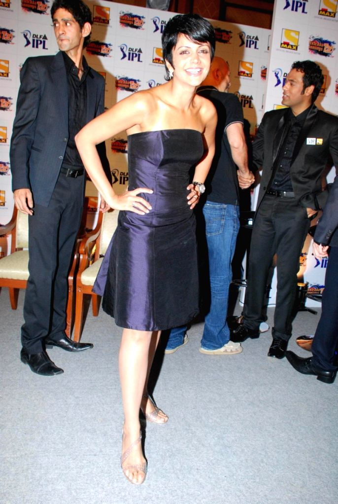 Mandira at Sony IPL Press Meet in Mumbai.