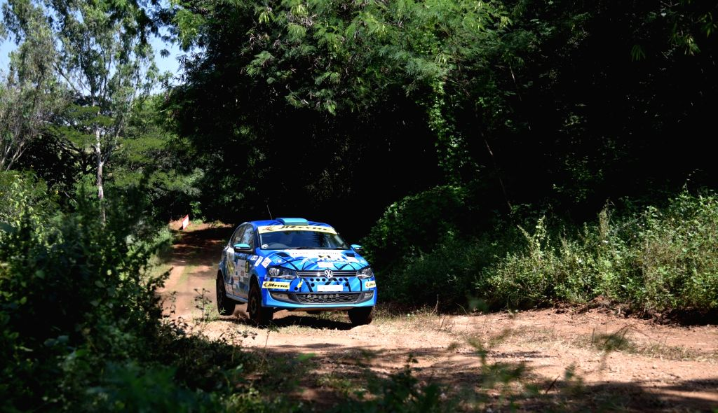 Mangaluru boy Dean Mascarenhas in action during day 1 of CYC FMSCI Indian National Rallying Championship's round 4 in Bengaluru.