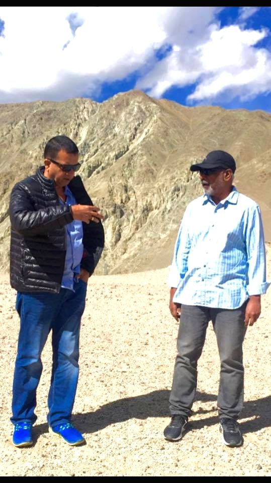 Mani Ratnam and Sham Kaushal in Ladakh