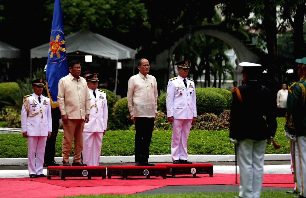 MANILA, June 30, 2016 - Departure honors is being accorded to outgoing President Benigno Aquino III before his successor, President-elect Rodrigo Duterte, taking his oath of office at the Malacanan ...