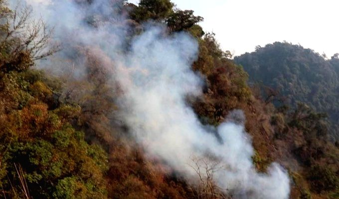Manipur forest fire.