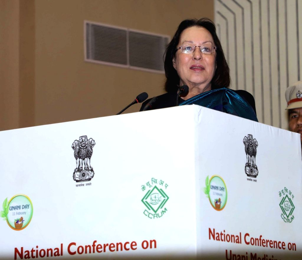 "Manipur Governor Dr. Najma Heptulla addresses at the National Conference on Unani Medicine ""Unani Medicine for Public Health"" organised by the Central Council for Research in ... - Najma Heptulla"