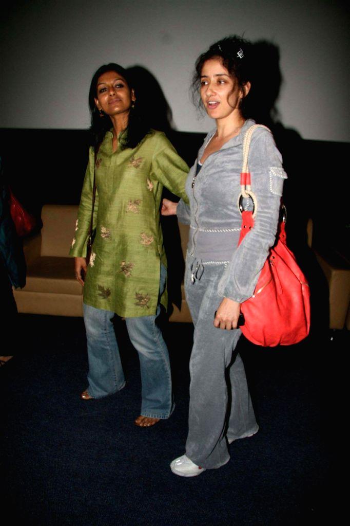 "Manisha Koirala and Nandita Das at the special screening of movie ""Firaaq""."