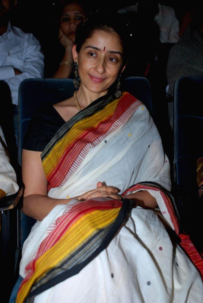 Manisha Koirala at Kathak concert to pay tribute to Kathak dancer Shurushri Madhurita Sarang at Ravindra Natya Mandir. - Manisha Koirala