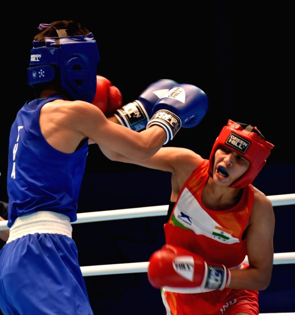 Manju Rani in action.