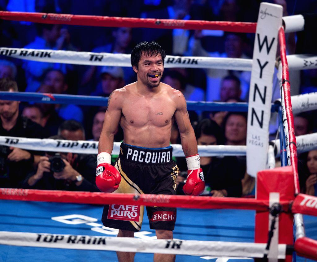 Manny Pacquiao. (Xinhua/Yang Lei/IANS)