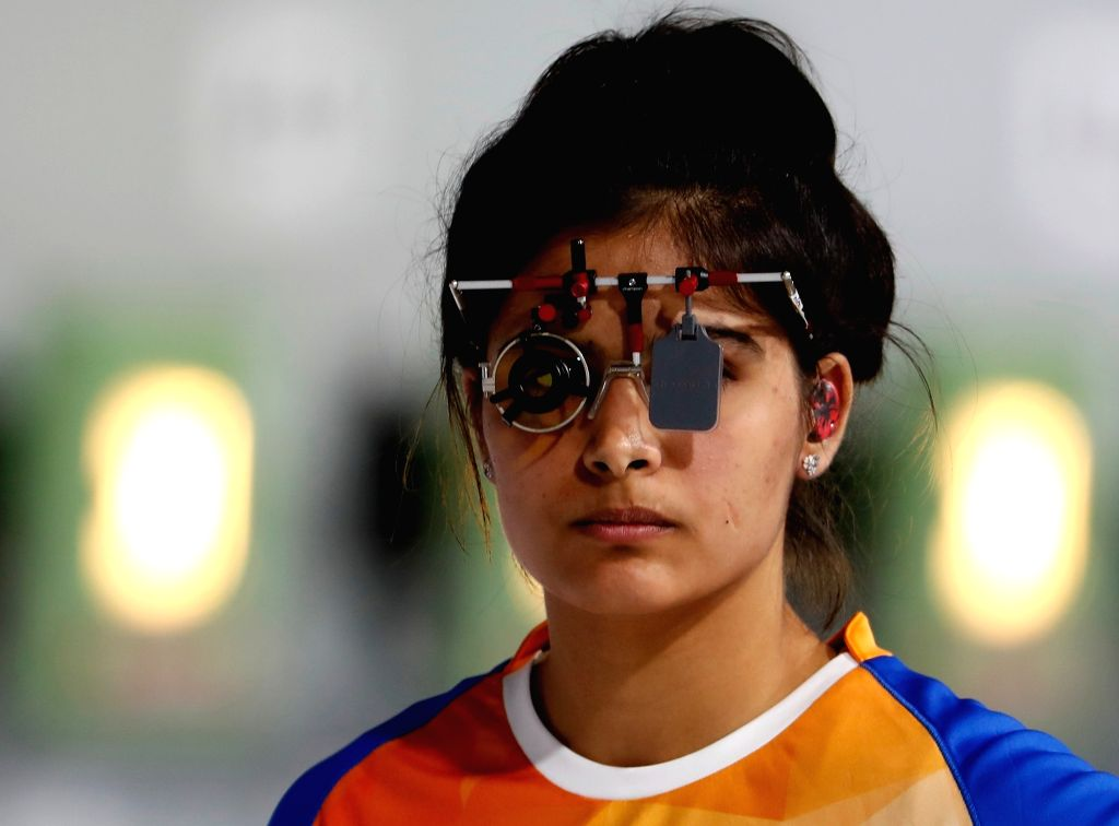 Manu Bhaker. (Xinhua/Wang Lili/IANS)