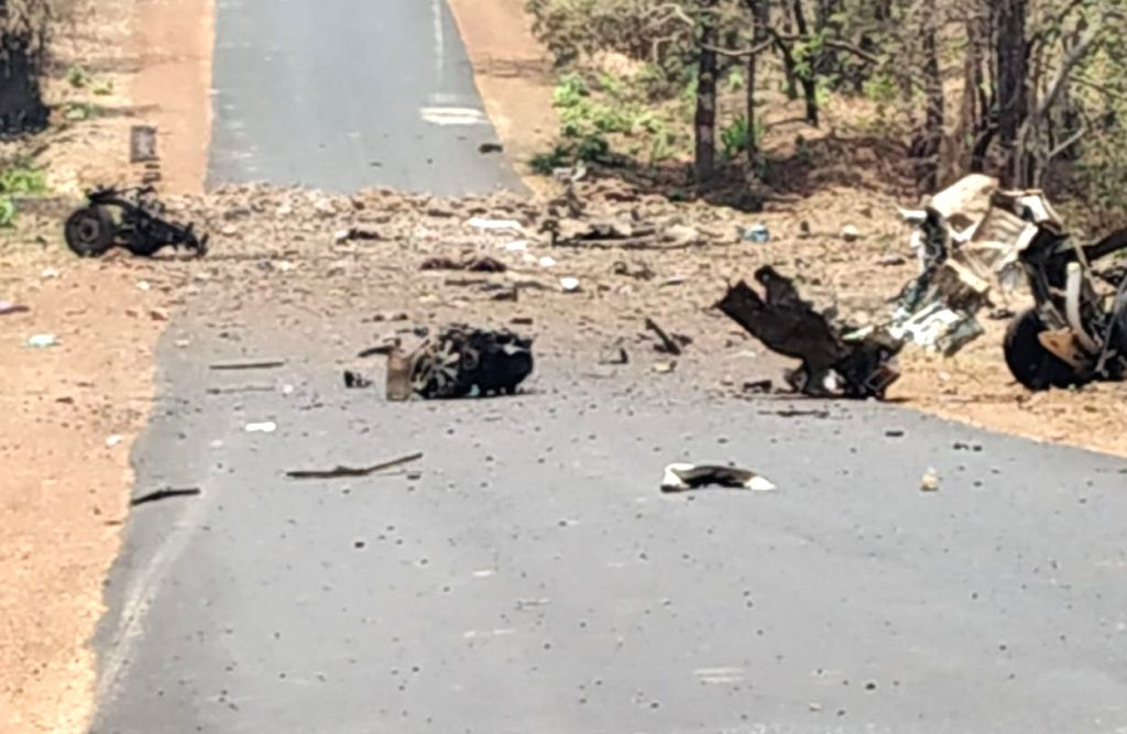 Maoists torched at least three dozen vehicles belonging to private contractors in Kurkheda sub-district of Maharashtra's Gadchiroli on May 1, 2019. The targeted vehicles, mostly belonged to ...