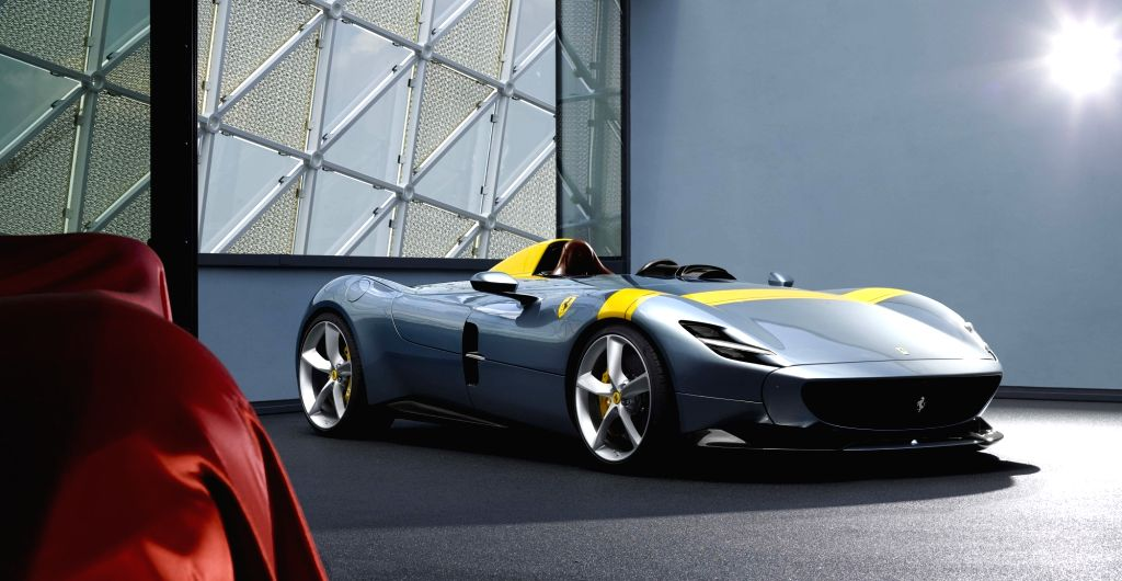 MARANELLO, Sept. 19, 2018 - Ferrari's new Monza SP1 is seen in this file photo provided by Italian luxury automaker Ferrari on Sept. 18, 2018. Ferrari launched its two new car models called Monza SP1 ...