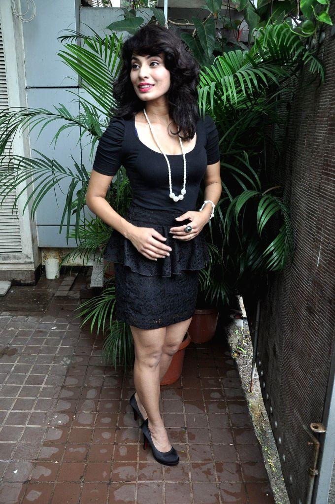 Marathi actor Manisha Kelkar during the title song recording of the album Afreen in Mumbai on July 19, 2014. - Manisha Kelkar