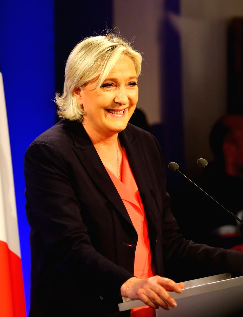 Marine Le Pen, far-right National Front (FN) party leader