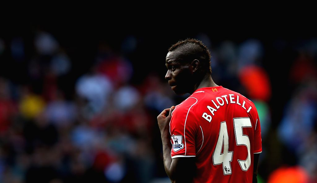 :Mario Balotelli of Liverpool is seen during the Barclays Premier League match between Liverpool and Tottenham Hotspur at White Hart Lane in London, England on ...